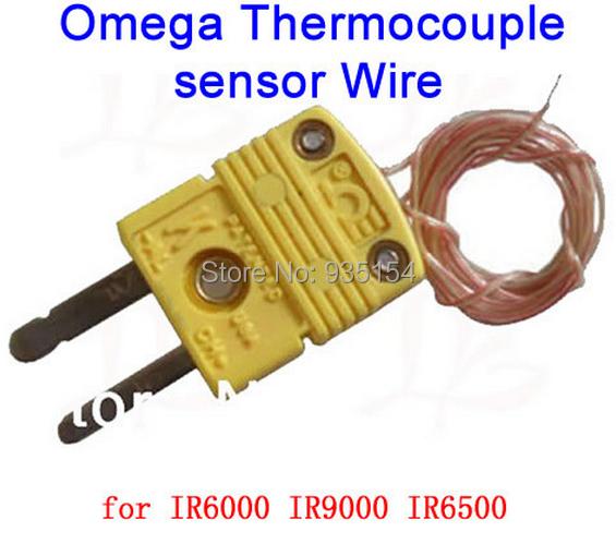 Free Ship! 2pcs/lot Omega K-Type Thermocouple sensor Wire, for IR600 IR6500 IR9000 bga rework station bga machine repairing(China (Mainland))