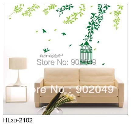 2pcs lots 50x70cm vinyl wallpaper rolls the birdcage and for Cheap wallpaper rolls