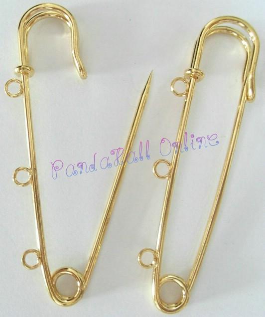 Iron font b Kilt b font Pins Golden 75mm Hole 3mm