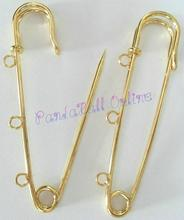 Iron Kilt Pins, Golden, 75mm, Hole: 3mm
