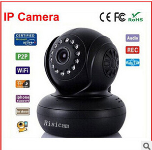 DW730 indoor security TF card memory Wireless PTZ network camera P2P(China (Mainland))