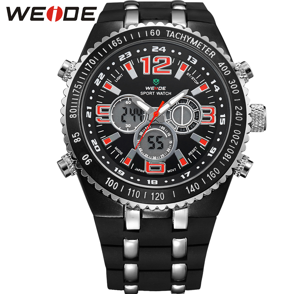 WEIDE Wrist Watches For Men Water Resistant Analog Digital ...