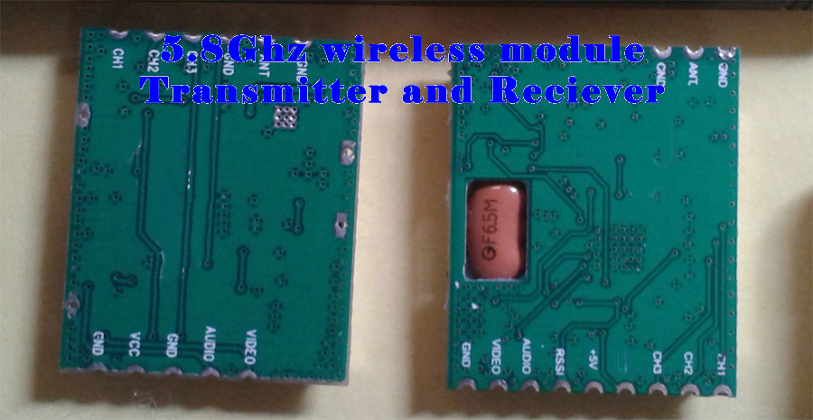 fpv 5.8g wireless Video Audio module/set for sending security camera image(China (Mainland))