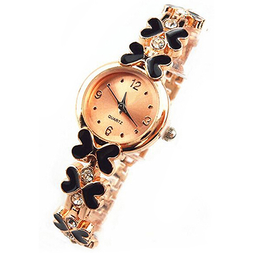2015 New Fashion Women's Girl's Butterfly Decoration Rhinestone Bracelet Wrist Watch  WristWatch  1GHB 6T3P C2K5W