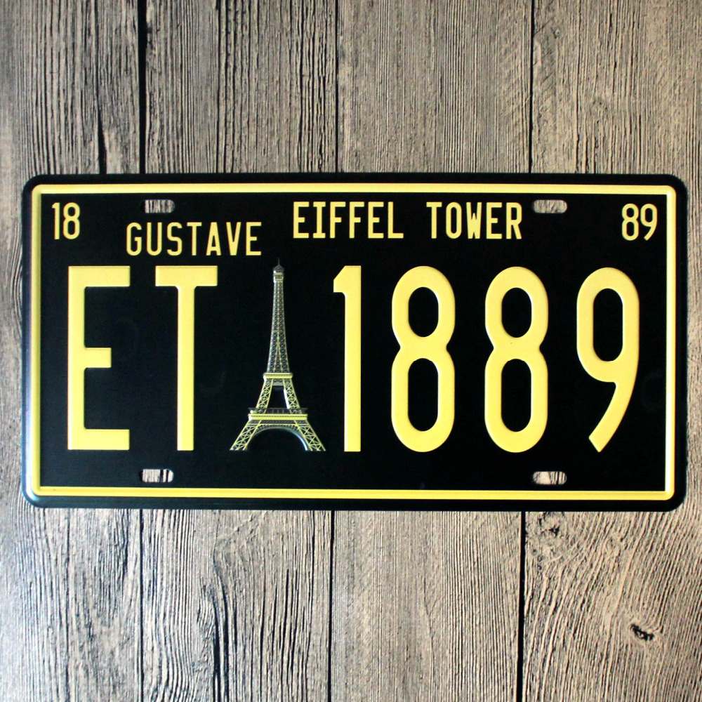 Retro Metal Plate EIFFEL TOWER Street Signs Home Decorations Metal Wall Art 30X15cm(China (Mainland))