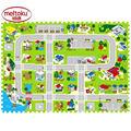 12pcs Meitoku EVA foam play puzzle Floor mats for kids Free combination baby city Road brain