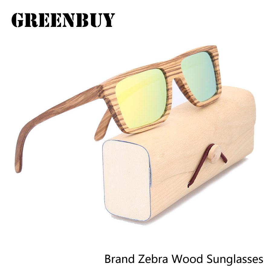 Orange Sunglasses Mirrored Zebra Wood Sunglasses Name Brand Men Sun Glasses 2016 Oculos De Sol Mens Glasses Frame Sunglass(China (Mainland))