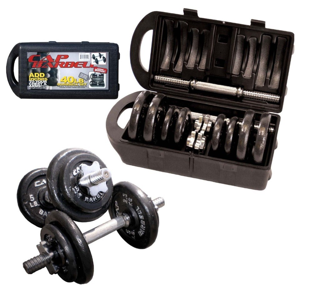 40-Pound Dumbbell Set, Adjustable Weight Plates Cap Barbell(China (Mainland))