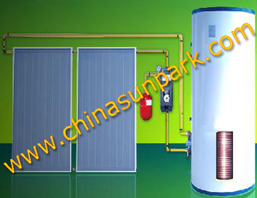 300L flat panel solar heating system(China (Mainland))