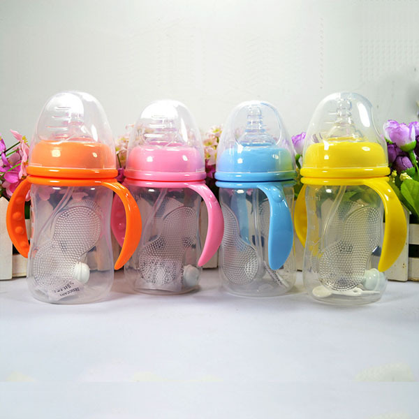 2015 Rushed Baby Bottles free Shipping Drop 210ml 1piece Wide Mouth Printing Feeding Bottle for Baby Nursing Feeder Brand New(China (Mainland))