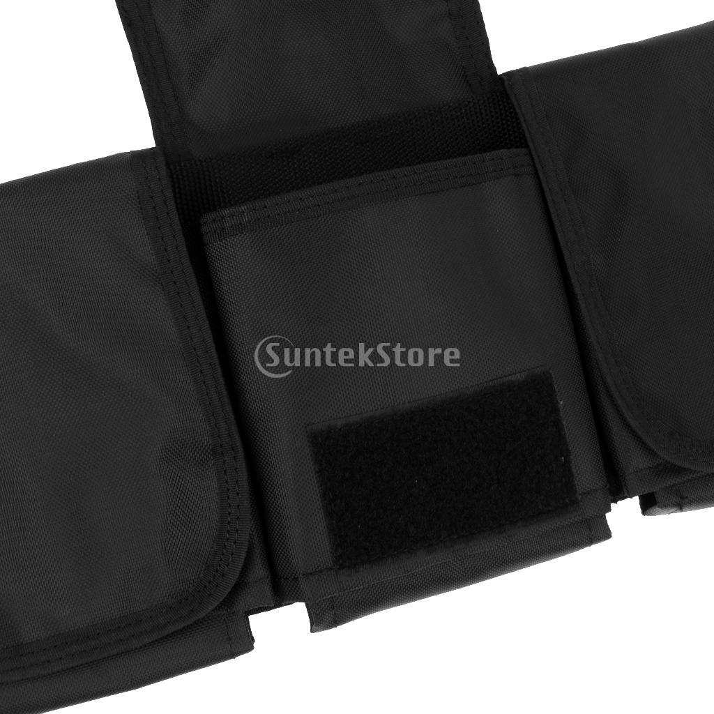 Heavy Duty Scuba Diving 4-Pocket Weight Belt + Empty Mesh Shot Pouch Bag 1KG