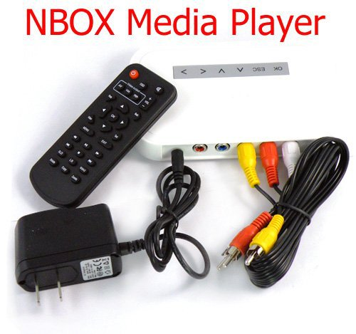 2015 Portable NEW arrival NBOX TV USB TO HDD MP4 RM RMVB MPEG AVI player NBOX T HD TV SD Card Flash Hard Drive Disk Media Player(China (Mainland))