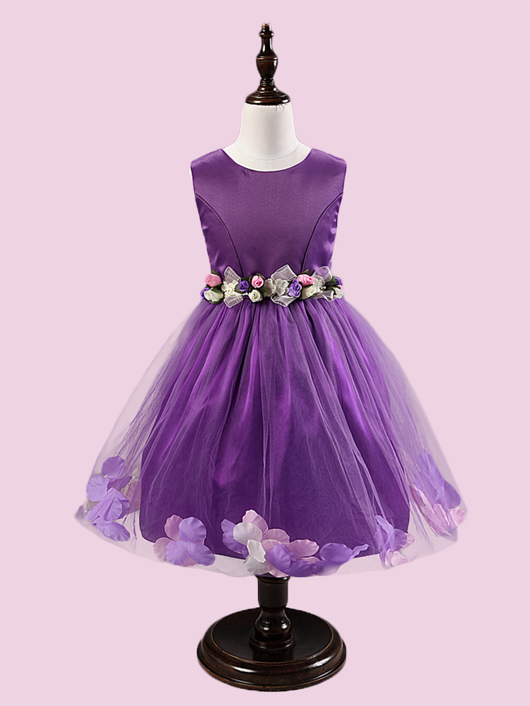 gril's clothes sleeveless princess dress fashion formal party grils summer children