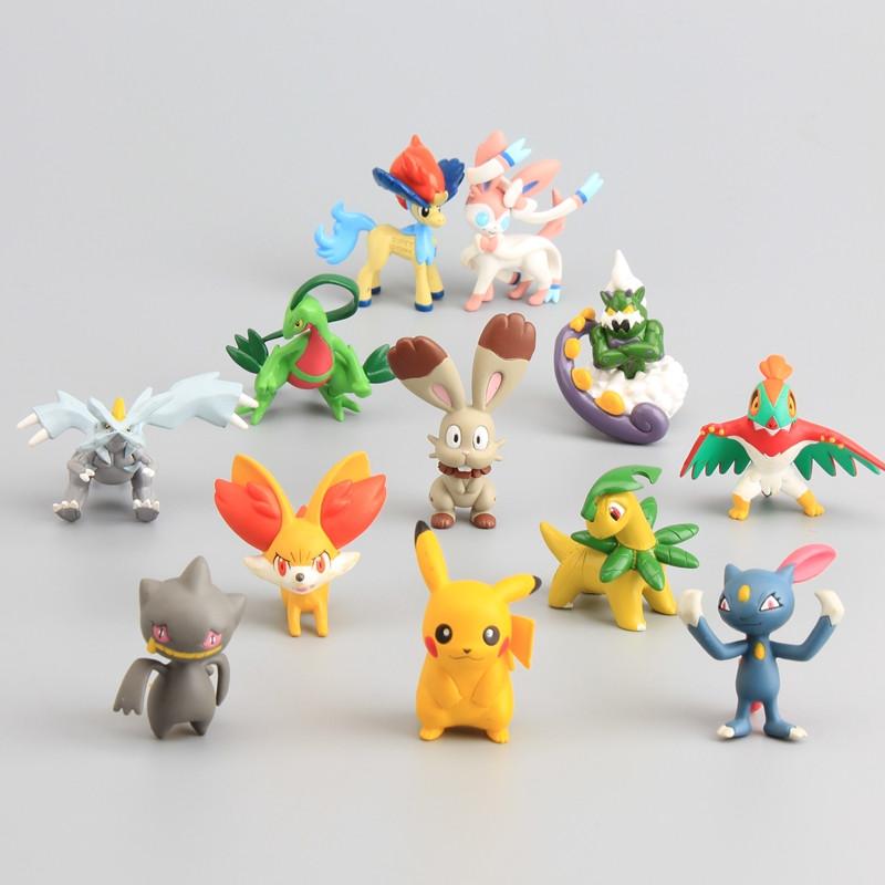 12 Pcs Set Ainme font b Pokemon b font font b Figures b font Pikachu Sylveon