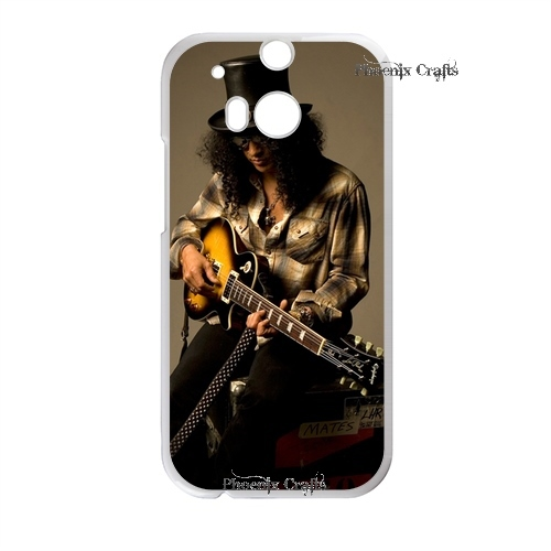 Premium Designs Guns n Roses Retro Slash wooden case branco caso Hard plastic case for HTC One m8 Replacement(China (Mainland))