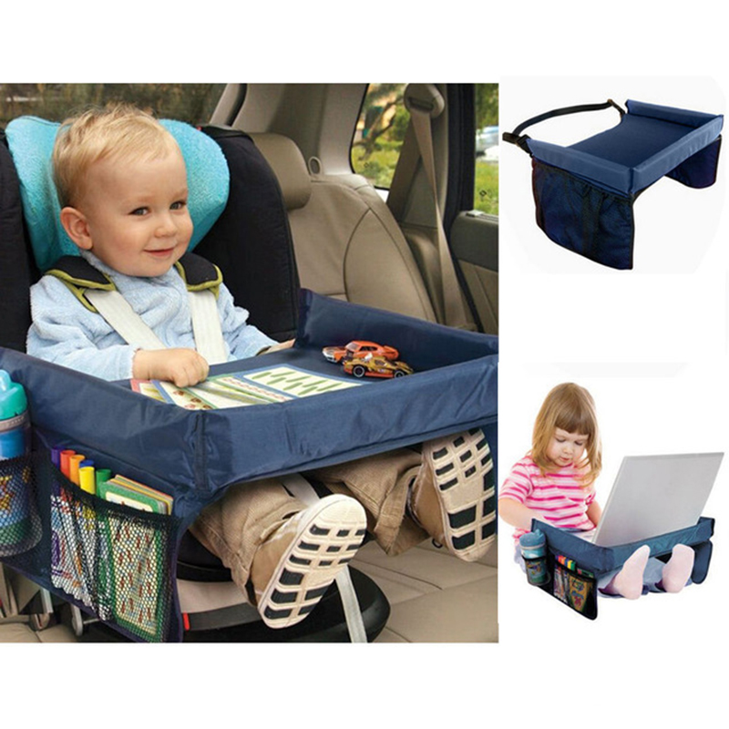 Car Tray Kids Safty Seat Travel Tray Booster Seats Table Strollers Pushchair Snack Play Trays Car Back Seat Table Drink Tray(China (Mainland))