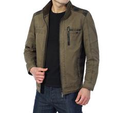 Jackets Men 2015 New Spring and Autumn Stand Collar Cotton Jacket Fashion Casual Coat Jackets Men Sportswear XL XXL 3XL 4XL (China (Mainland))