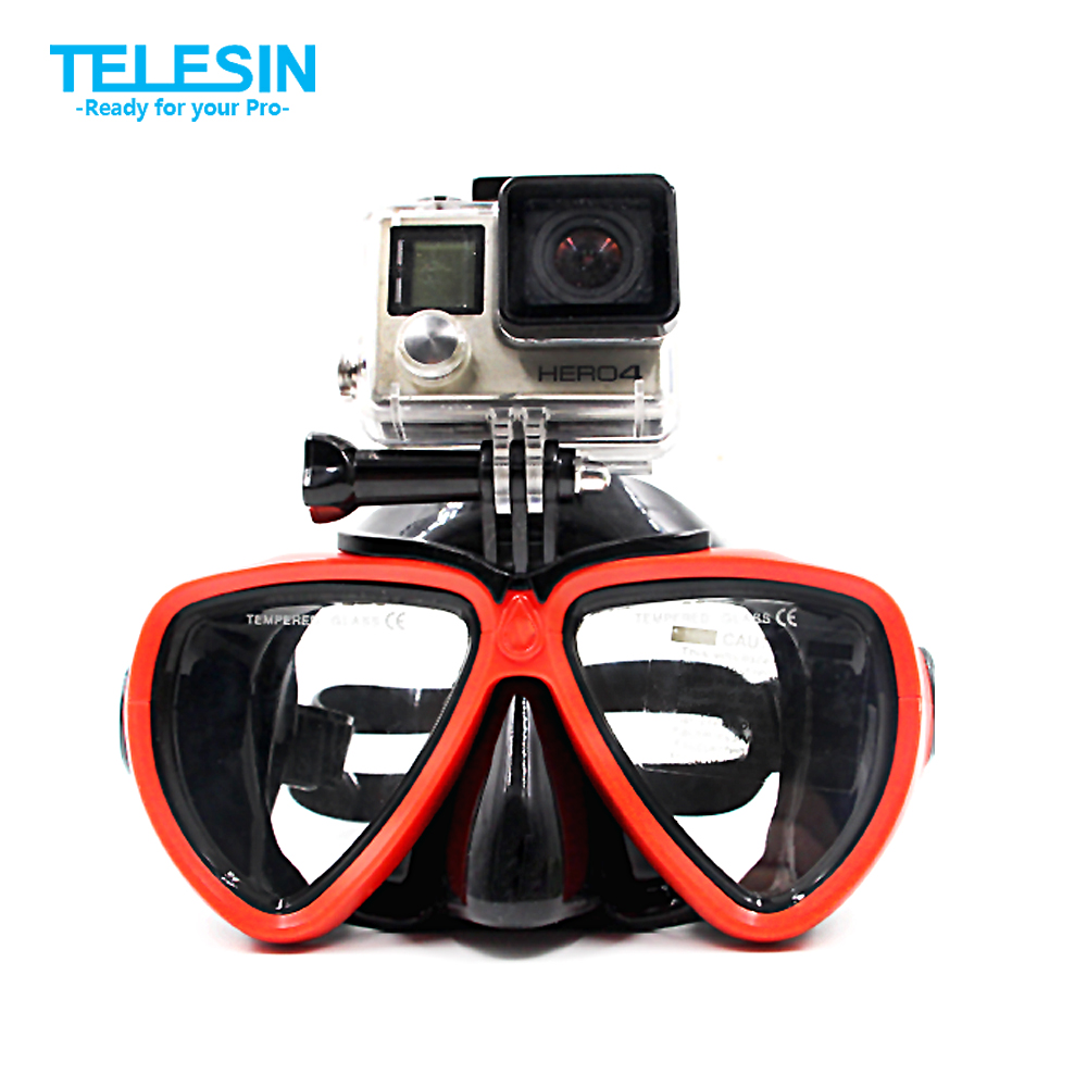 snorkeling with glasses n8hf  TELESIN Diving Mask Scuba Snorkel Goggles Glasses for Go Pro Hero 5 4 3 3+