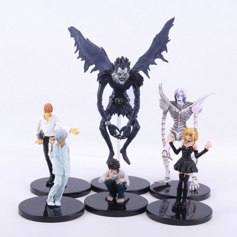 6pcs/set Anime Death Note L Killer Ryuuku Rem Misa Amane PVC Action Figures Toys(China (Mainland))