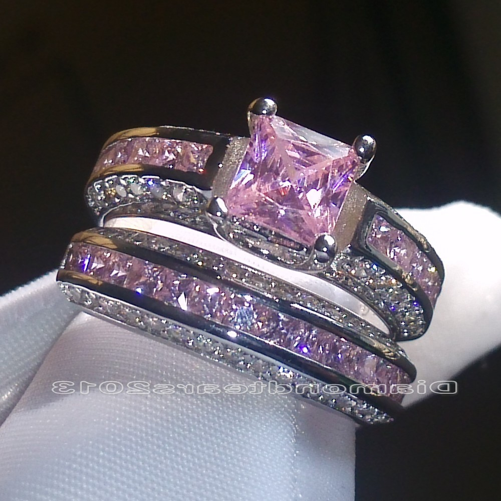 ct gift gemstone sapphire mothers day wedding deco cttw wh pink ring art rings bridal oval unique set tw
