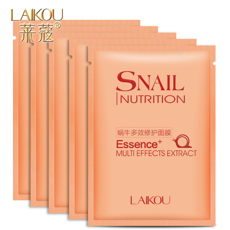 2Pcs/Lot LAIKOU Snail Original Liquid Essence Extract Whitening Moisturizing Shrink Pores Facial Face Mask After Sun Repair(China (Mainland))