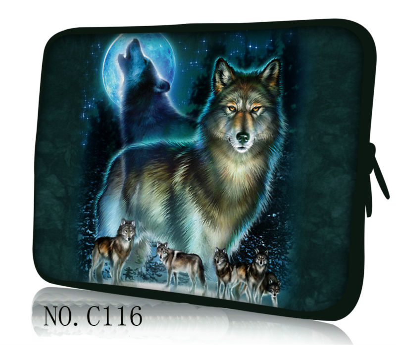 "Laptop Sleeve Wolf  Bag Case Pouch For 13"" 13.3"" Macbook Pro/Air/HP/ Dell/ASUS(China (Mainland))"