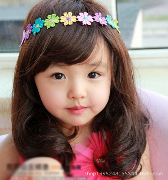 Honey Brown Black Wig Kids Princess Long Curly Hair Children Wigs Synthetic Cosplay Party Take Photos Honey Wig Free Shipping(China (Mainland))