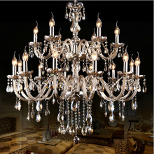 Large Led Modern Chandeliers Ceiling Decor 10+5 Arms lustres de sala For Hotel Living room Bedroom glass crystals for chandelier(China (Mainland))