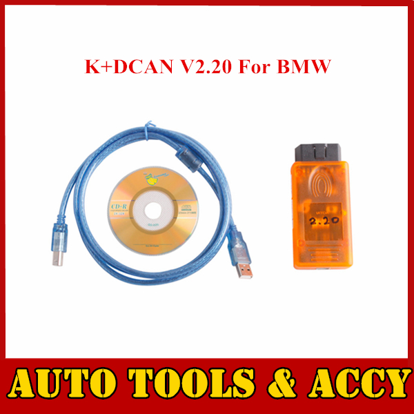2015 Hot sale Auto Scanner K+DCAN V2.20 For BMW all electronic control units free shipping(China (Mainland))