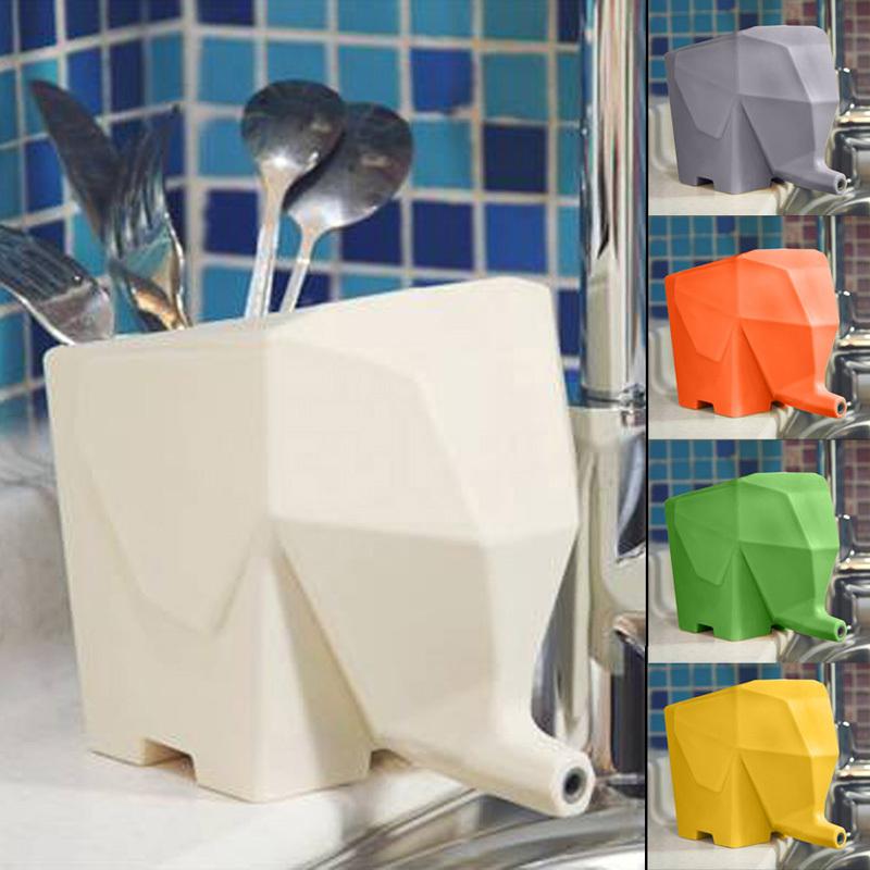 Creative Elephant Shape Kitchen Cutlery Dish Drainer Toothbrush Holder Kitchen Storage Bathroom Organizer hv3n(China (Mainland))