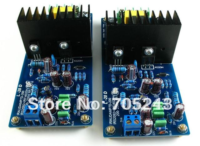 2pcs HIEND Class D   IRS2092  amplifier board ,200~250W 2*8ohm RMS   (stereo)  assembled& finished