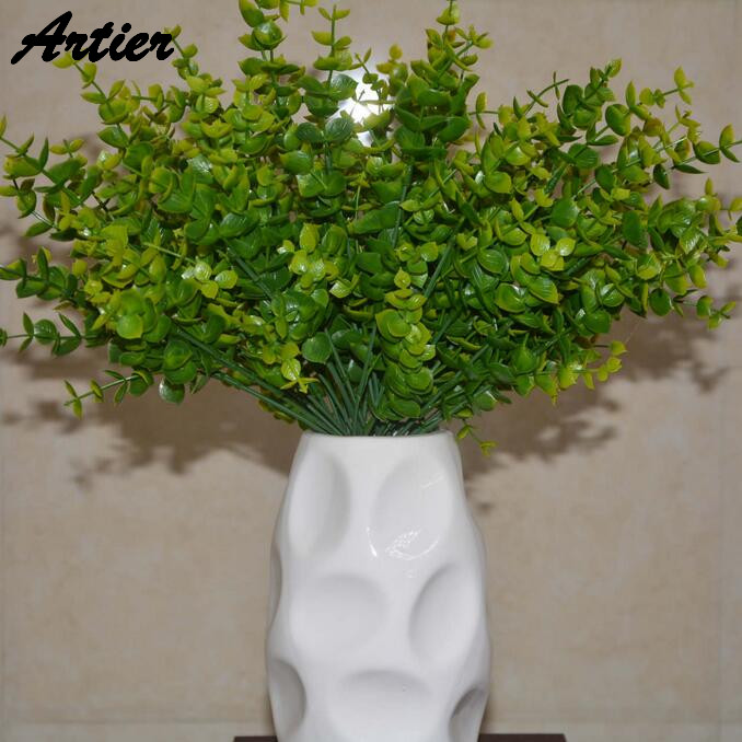 Factory direct sales artificial flower new pattern aquatic plants 7 fork money leaves home decor AQ1012(China (Mainland))