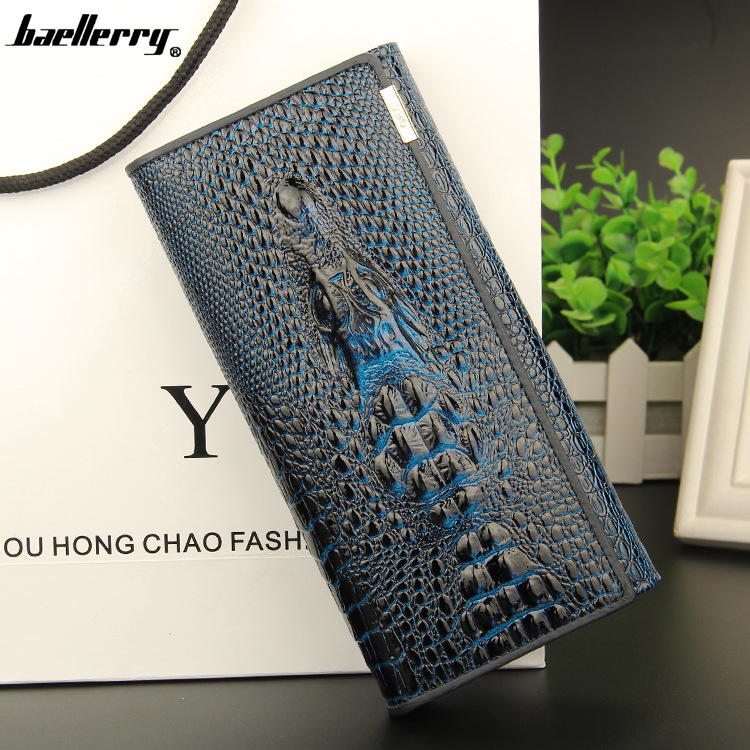 real leather women mini wallets , Crocodile 3D purse 2015 new fashion woman card holder - Top One Wallet store