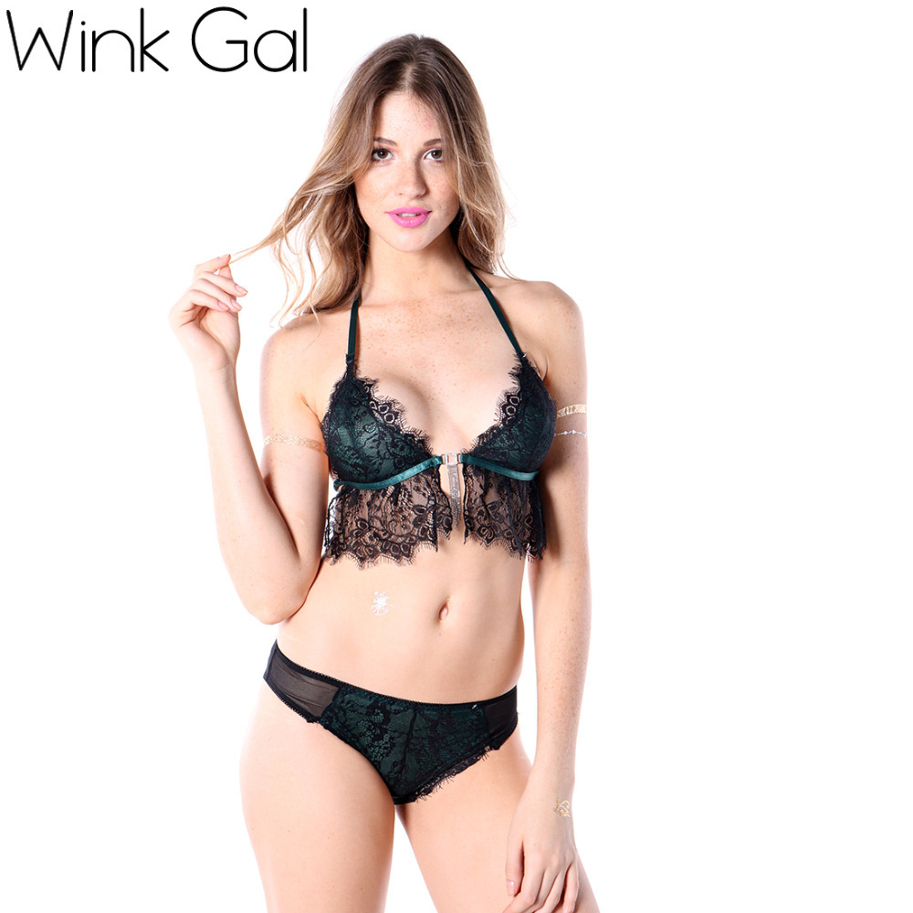 wink gal secret sexy lace bra sets embroidery ultra thin. Black Bedroom Furniture Sets. Home Design Ideas
