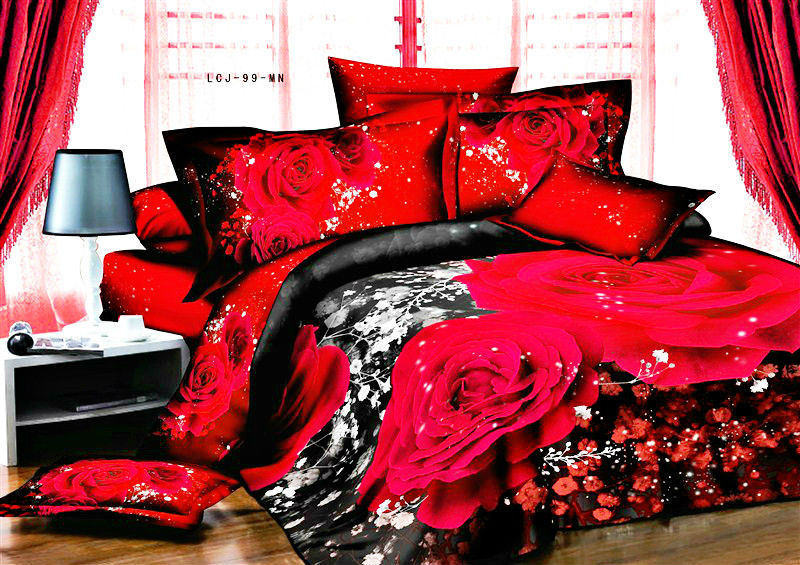 Wholesale ANN/a Nice Night Roupa De Cama 3d Bedding Set Red Rose Flower Bed  Sheets Sale Price Exquisite Gift Giving Online With $75.16/Piece On  Beauteousu0027s ...