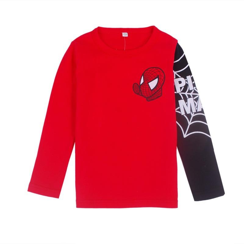 Hot sale Kids Boys Baby Girls Spiderman Hero boys t shirt long Sleeve kids Tops 100