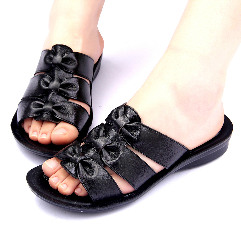 New 2016 summer women genuine leather shoes plus size 40 ...