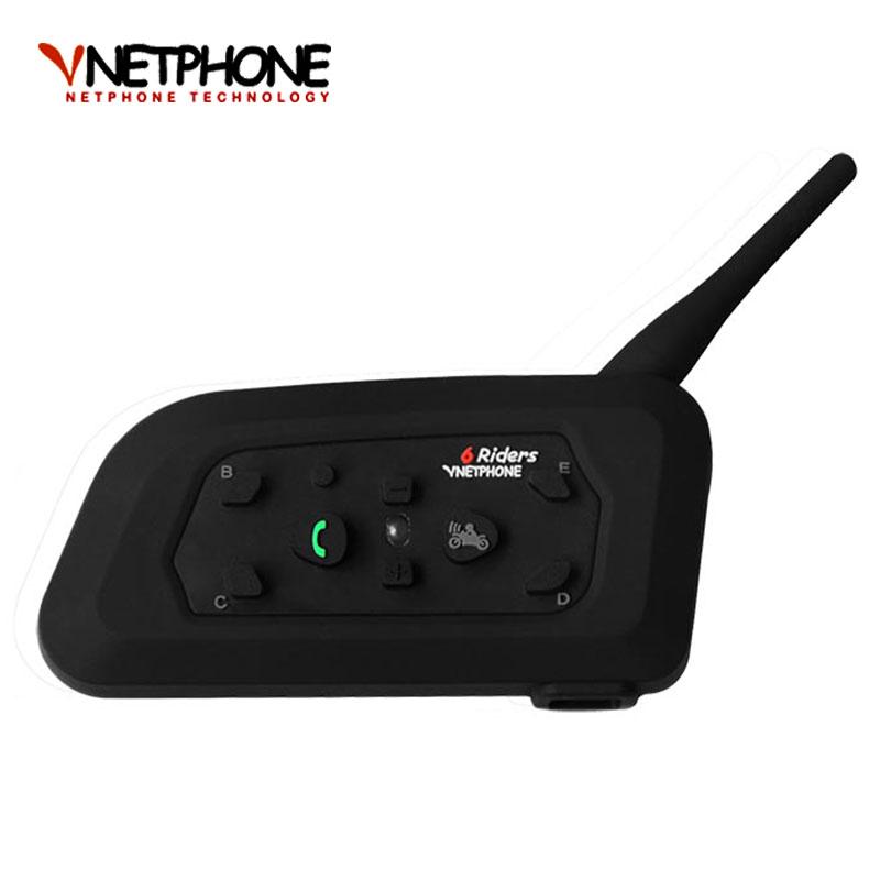 2016 Motorcycle Accessories V6 Helmet Intercom Speaker 1200M 6 Riders Bluetooth Interphone Headset Support Mp3 Music GPS(China (Mainland))