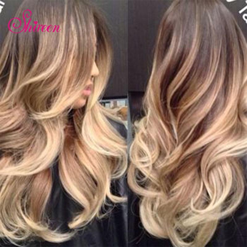 Ombre Hair 7A Brzilian Hair Body Wave 3 Bundles 100% human hair extensions virgin Brazilian Ombre Hair weave bundles <br>