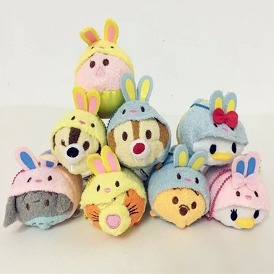 3pcs/lot Tsum Tsum Plush Toys Cute Easter Collection Kawaii Donald Daisy Duck Dale Chip Eeyore Piglet Tigger Smartphone Cleane(China (Mainland))
