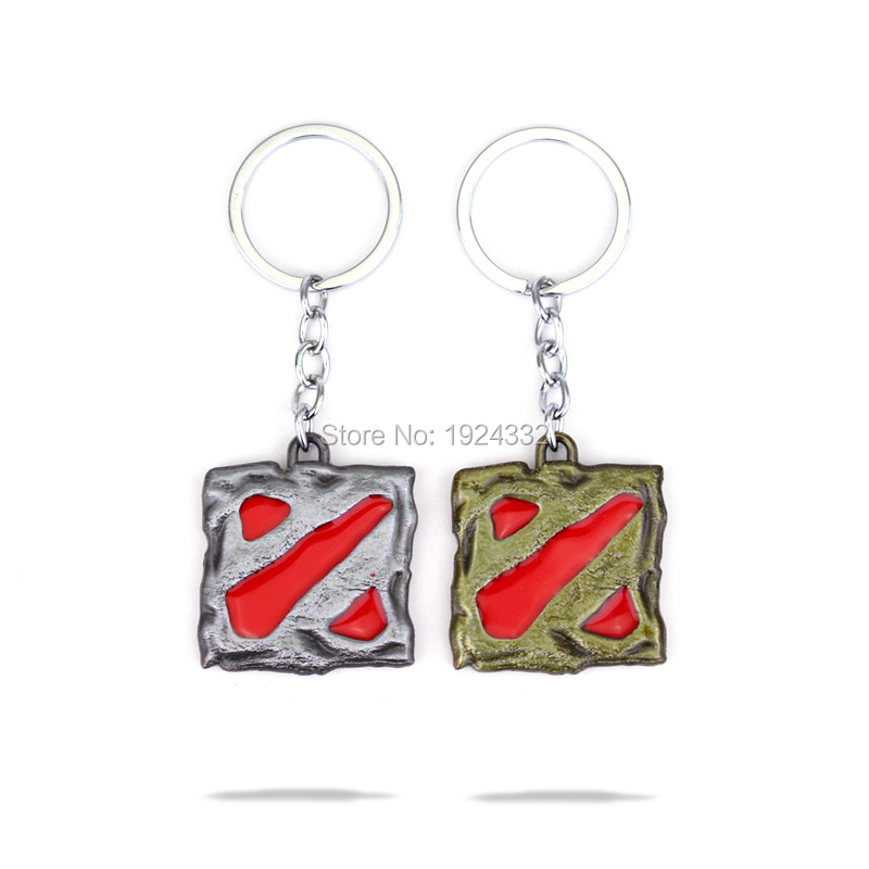 Hot Valve Game DOTA 2 logo Keychain Metal Pendant Keyring High Quality For Women and Men E-sports Moba Game Fans 2 Style(China (Mainland))
