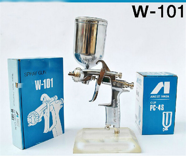 Фотография Anest Iwata manual w-101 spray gun 0.8mm 1.0mm 1.3mm 1.5mm 1.8mm gravity feed type air brush drill tools cheapgood quality