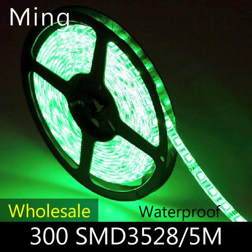 Wholesale LED strip light single color 60pcs SMD 3528 /m Waterproof DC 12V White/Warm White/Red/Green/Blue/Yellow, 100m/lot(China (Mainland))