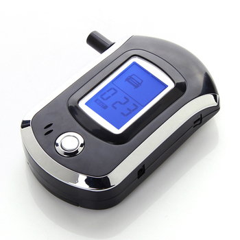 Free Shipping New Arrival Prefessional LCD Backlight Police Digital Breath Alcohol Tester Breathalyzer