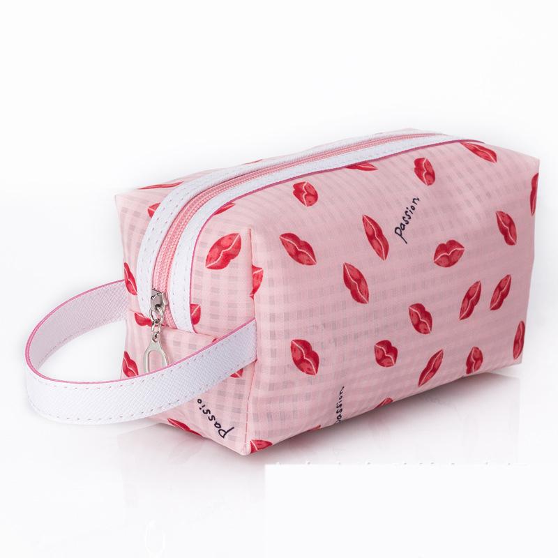lips Waterproof Makeup Bags Organisateur De Sac A Main Cute Cosmetics Pouchs For Travel Lady Pouch Women Organizer Cosmetic Bag(China (Mainland))