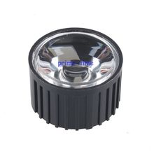 Buy 10pcs 20mm 45 degrees LED Lens Black White Holder 1W 3W 5W High Power LED Lamp Light for $2.63 in AliExpress store