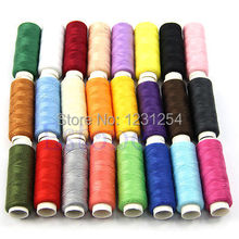New 24 Spools /set Mixed Colors Polyester All Purpose Sewing Threads Cones Set Hot