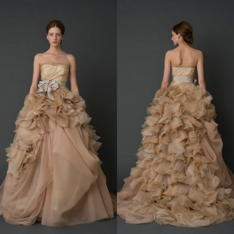 Chocolate Ball Gown Wedding Dresses
