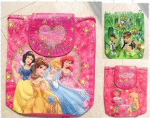 new style children's Non-woven backpack princess kid's Backpacks Printed School bag Party Favors 24pcs/lot  (China (Mainland))