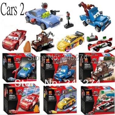 Original box BELA CARS 2 New assembling Toy Car building blocks sets 6 models DIY enlighten Bricks toys Compatible - Toys store